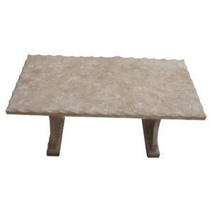 Shell Reef Beige Limestone Table, TA-020