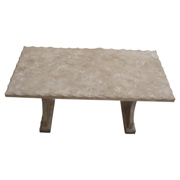 Shell Reef Beige Limestone Table, TA-020