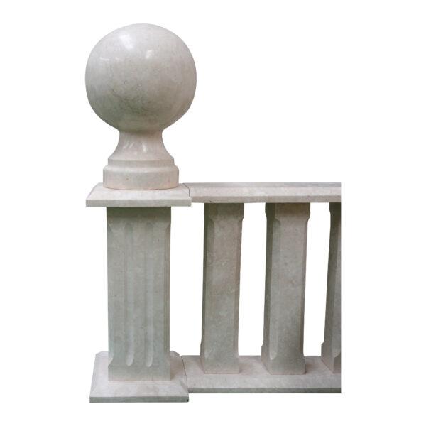 White Lime Stone Finial Balls, FB-003