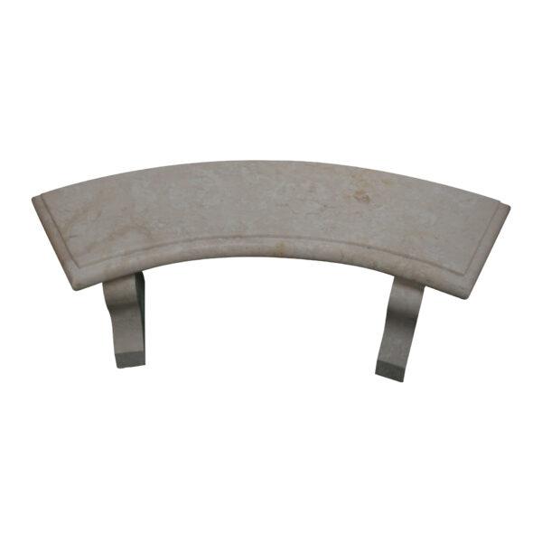 White Limestone Curved Garden Bench CH-013