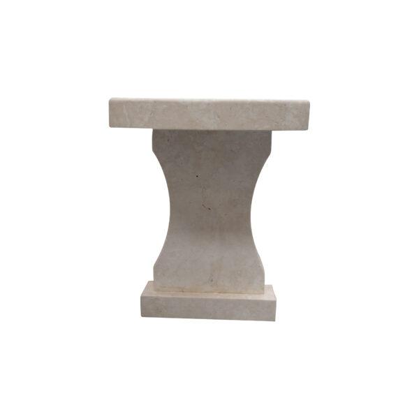 White Limestone Garden Bench CH-014 1