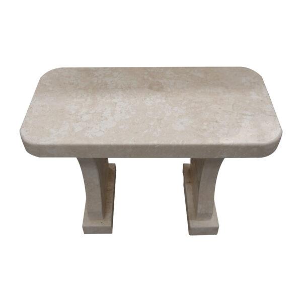 White Limestone Garden Bench CH-015