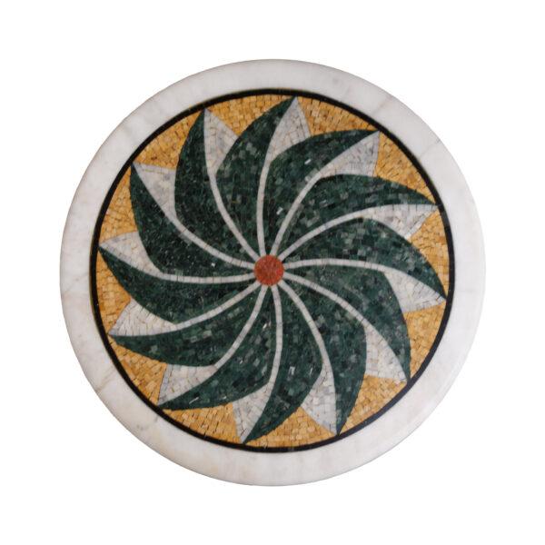 Winglike marble mosaic circular table TA-005 1