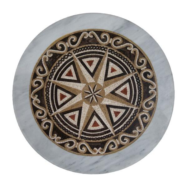 riangular overlapping marble mosaic circular table TA-011 1