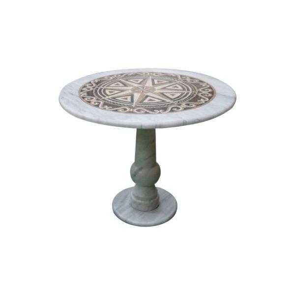 New overlapping marble mosaic circular table TA-011 2