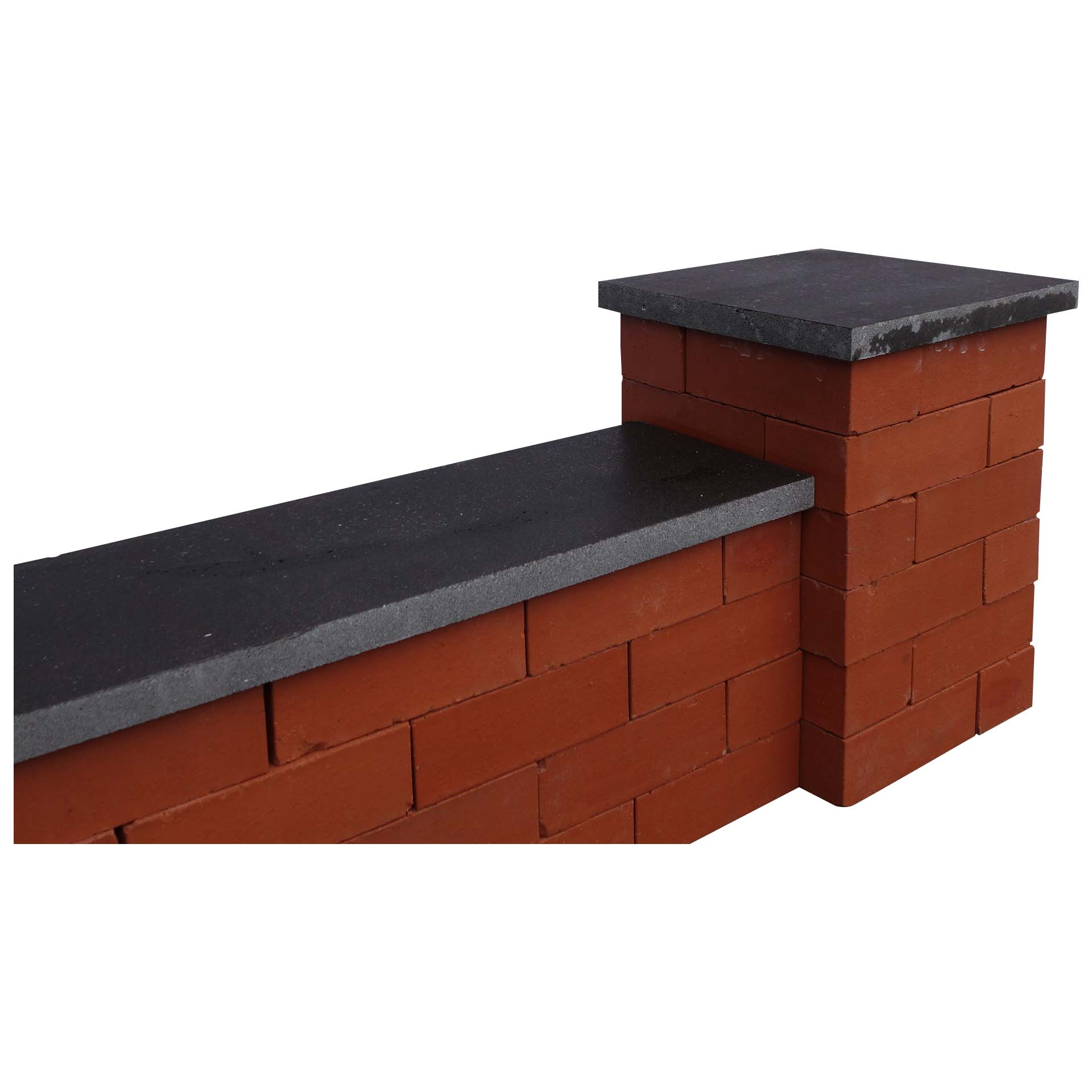 Dark grey Pier Caps & Wall Coping
