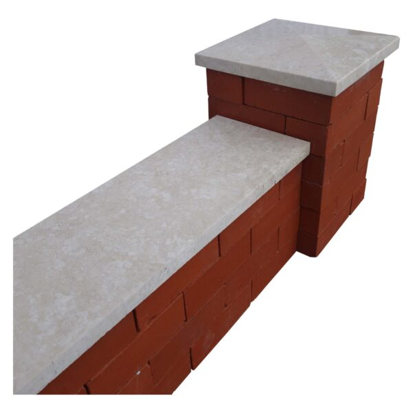 White Pier Caps & Wall Coping
