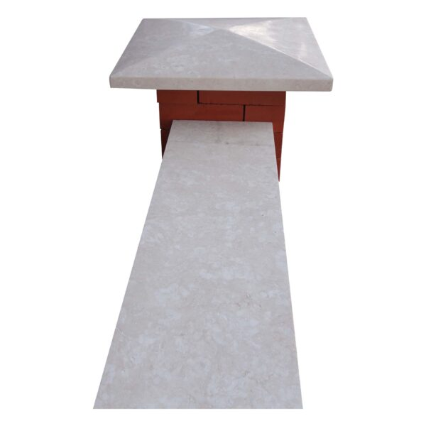 New white stone pier caps, coping & Wall Coping