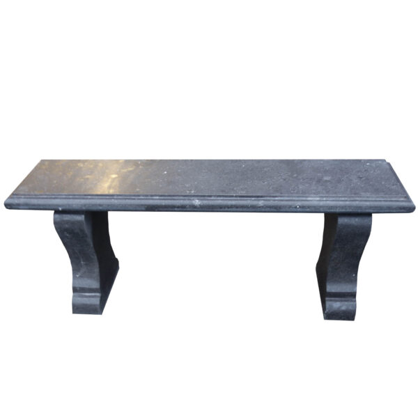 Black Stone Bench