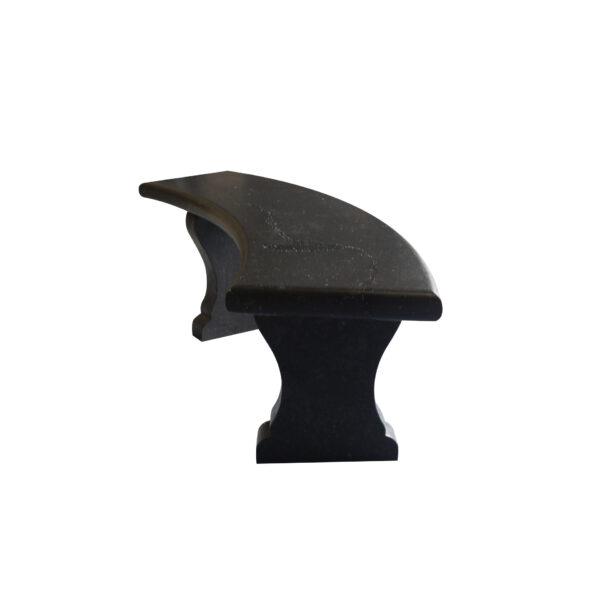 Black Basalt Curved Bench1