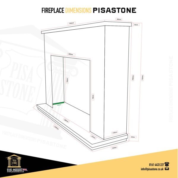 Crema Fireplace-Drawing-and-Dimension-Pisa-Stone 2021