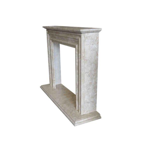 Crema Marfil Fireplace surround 2