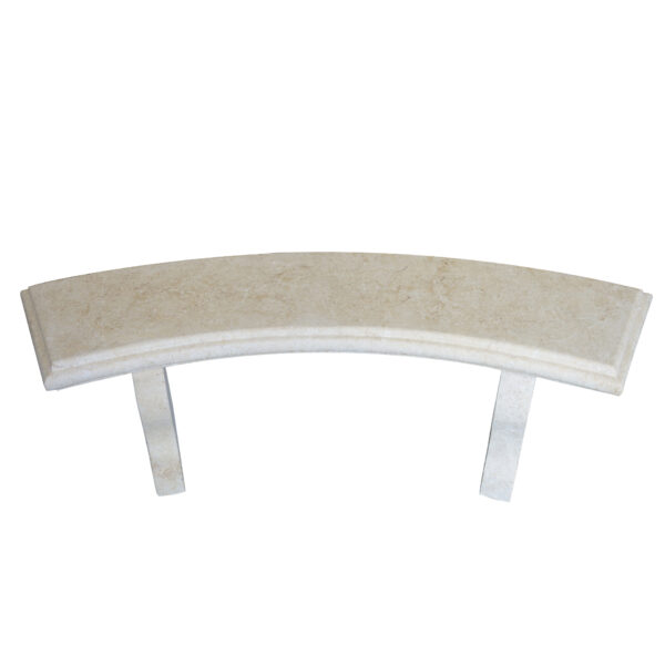 Light yellow Limestone Curved bench