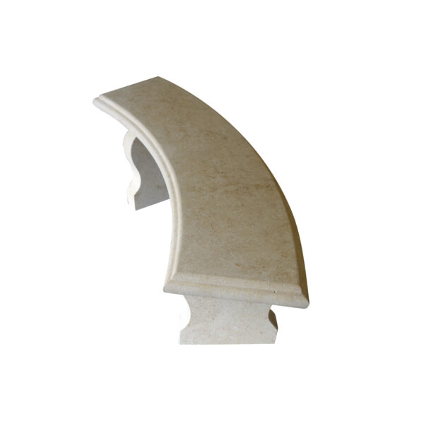 Light yellow stone Curved bench2